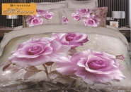 КОМПЛЕКТ ПОСТЕЛЬНОГО БЕЛЬЯ 3D 031 Лиловая Роза