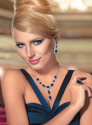 Комплект Дива - ожерелье, серьги, кольцо